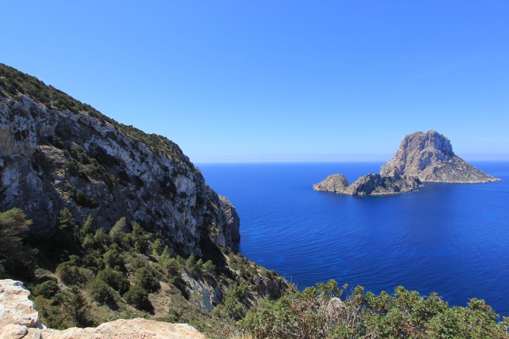 Blick auf Illa Vedranell & Illa Es Vedra