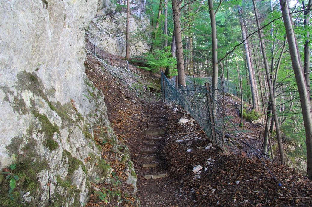 Aufgang zum oberen Bunker