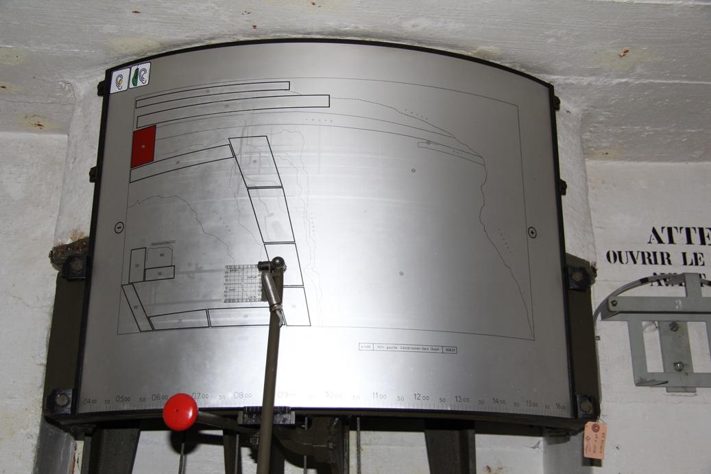 Geschützausrichtung im oberen Bunker