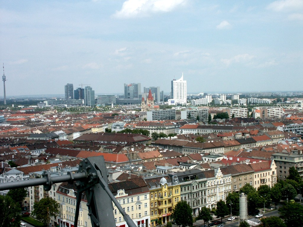 Aussicht vom Riesenrad im Prater, Wien