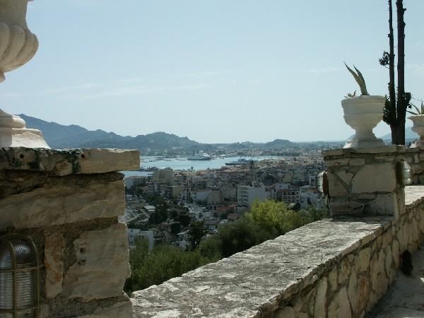 Blick auf Zakynthos Stadt