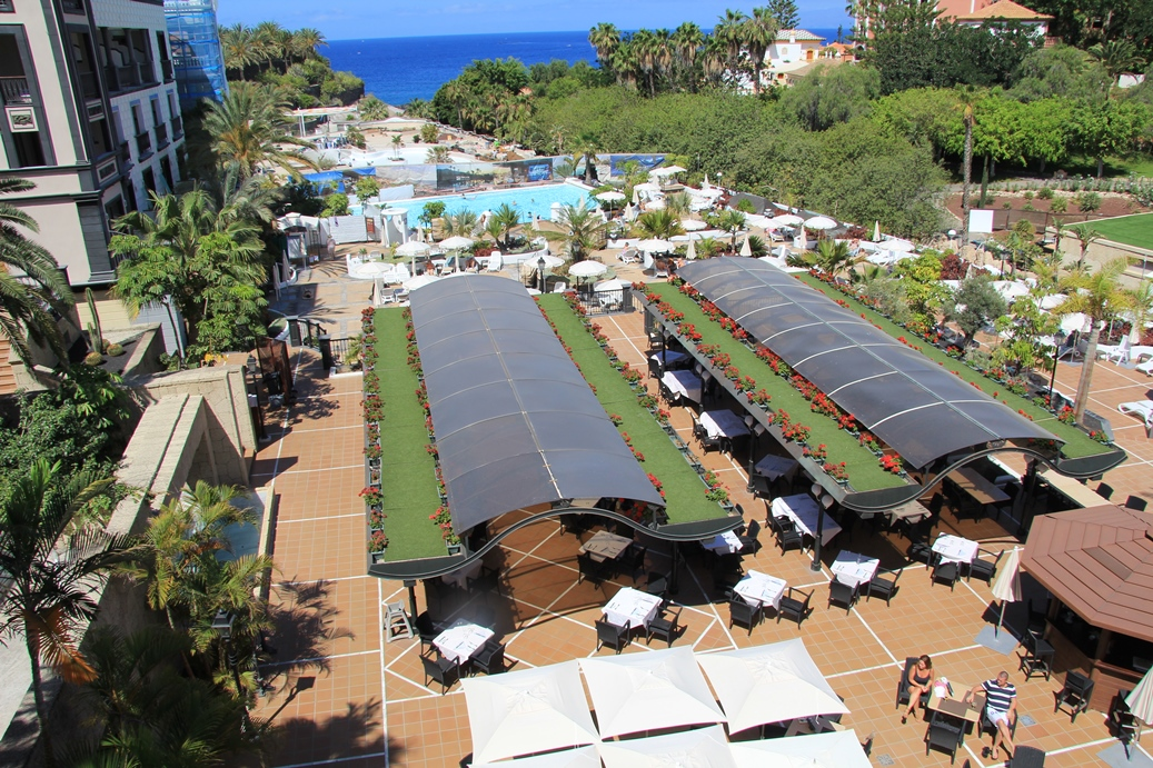 Blick von Sonnenterrasse Hotel Gran Tacande