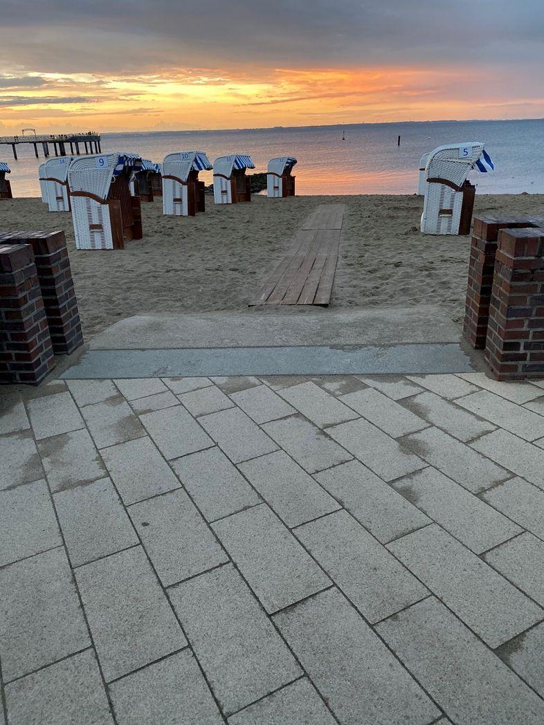Blick von der Uferpromenade Niendorf